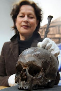 """Stolen skull of 14th century German pirate recovered.    On January 9th, 2010, thieves stole the alleged skull of medieval pirate Klaus Störtebeker from a display cabinet in the Hamburg Museum. The skull, still sporting the spike it was impaled on as a deterrent to any other would-be pirates, was one of the museum's prized possessions.    Welcome back """"alleged"""" Klaus Störtebeker  ;-)"""