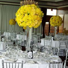 wedding centerpieces | Bernardo's Flowers Inc.: Extravagant Yellow Wedding Centerpieces