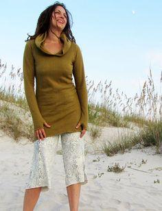Beach Bum Hoodie Tunic Fleece Dress
