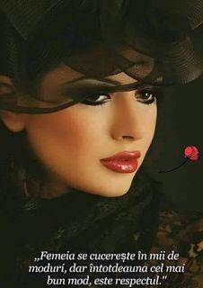 8 Martie, Fedora Hat Women, Madame, Hats For Women, Respect, Movie Posters, Psychology, Quotes, Hip Bones