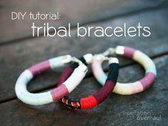DIY: Tribal Bracelets