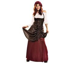 Disfraz de Tabernera medieval para mujer 21,75€