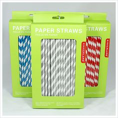How adorable are these straws?  And they're biodegradable and really well priced to boot!