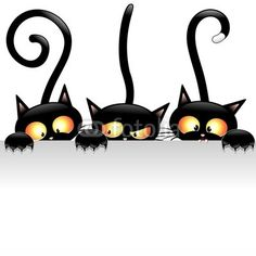 Sold EXTENDED XV on #Fotolia! Happy Blue! ^_^   #Funny #Black #Cats #Cartoon with #White #Panel   http://it.fotolia.com/id/55768649