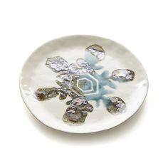 Snowflake Plate in Appetizer & Dessert Plates | Crate and Barrel