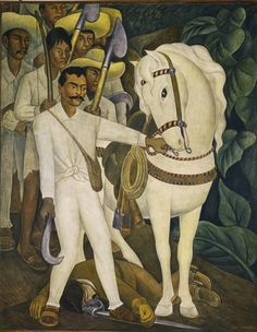"""Diego Rivera: Murals for The Museum of Modern Art November 13, 2011–May 14, 2012: NYC - Diego Rivera. Agrarian Leader Zapata. 1931. Fresco, 7' 9 3/4"""" x 6' 2"""" (238.1 x 188 cm). The Museum of Modern Art. Abby Aldrich Rockefeller Fund  #lp"""