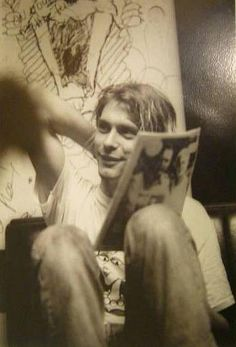 "When asked what he'd title his autobiography, Kurt said ""I Was Not Thinking, by Kurt Cobain"""