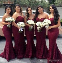 2017 New Burgundy Mermaid Bridesmaid Dresses Elegant New Sweetheart Backless Lace Maid of the Honor Sexy Dresses Cheap for Sale New Bridesmaid Dresses Cheap Bridesmaid Dresses Long Maid of Honor Dress Online with $92.0/Piece on Magicdress2011's Store | DHgate.com