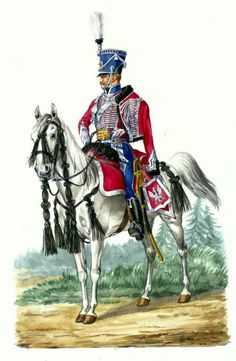 FRANCE - Aide of the Polish Supreme Commander in uniform parade Fig. Poland History, Art History, Etat Major, Army Uniform, Military Uniforms, French Army, Napoleonic Wars, Warsaw, Coat Of Arms