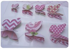 DIY Butterflies for Gift wrapping. 80813