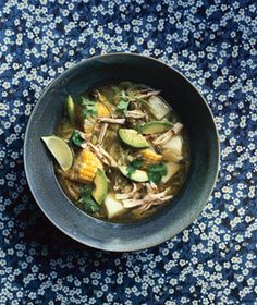 Colombian chicken soup- sans the capers and avocado, exactly how my dad makes it. Very easy and yummy!