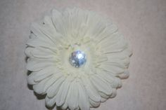 White Flower Hair Clip by MariasBowTique on Etsy, $2.50
