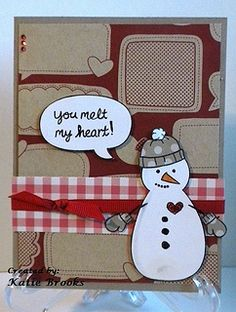 Lawn Fawn - Making Frosty Friends, A Birdie Told Me, Here's the Scoop    Cute idea for Valentine's Day! Winter Wonderland with a Twist by katieannbrooks, via Flickr