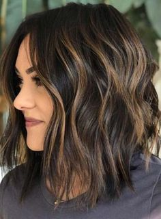 Best Of Textured Balayage Bob Haircuts For Women - See Here And Apply Our Best B. - Best Of Textured Balayage Bob Haircuts For Women – See Here And Apply Our Best Balayage Hair Colo - Medium Length Hairstyles, Bob Haircuts For Women, Curly Haircuts, Short Hairstyles For Women, Wavey Bob Hairstyles, Bob Hairstyles How To Style, Hairstyles For Fine Thin Hair, Haircuts For Round Faces, Bob Hairstyles Brunette