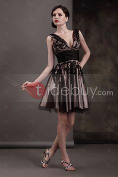 ea2b4794a0 Tempting A-line Appliques Deep V-Neck Luba s Cocktail Dress   Tidebuy.com. Black  Prom DressesDresses ...