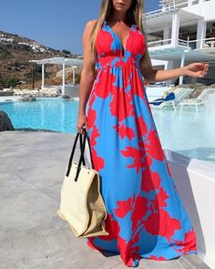 Vestido camisero con botones y aberturas Online. Discover hottest trend fashion at chicme.com Women's A Line Dresses, Types Of Dresses, Casual Dresses, Women's Dresses, Vestidos Sexy, Elegant Maxi Dress, Boho Dress, Trend Fashion, Womens Fashion
