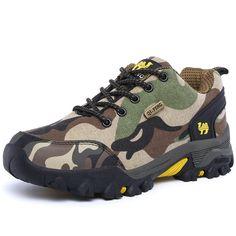 2017 New Hiking Shoes Men Outdoor Trekking Sneakers Couples Autumn Winter Mountain Boots Men Women Camo Climbing Shoes - Best Hiking Shoes, Hiking Sneakers, Denim Sneakers, Best Sneakers, Sneakers Adidas, Hiking Boots, Sneakers For Plantar Fasciitis, Comfortable Mens Shoes, Baskets