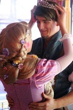 Rapunzel and Flynn Rider.... I know someone I wouldn't mind being my Flynn rider.... #rapunzelforhalloween