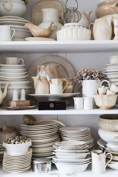 Displaying a huge collection of white ironstone
