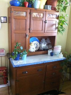 Great Wilson Hoosier Cabinet With Original Finish By Lostisfoundagain, $625.00
