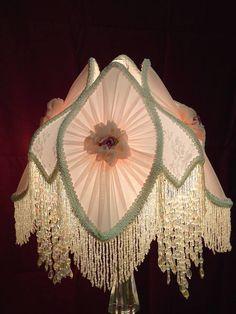 47 Vintage Victorian Lamp Shades Ideas For Bedroom - Trendecorist Victorian Lighting, Victorian Lamps, Antique Lamps, Antique Lighting, Vintage Lamps, Antique Furniture, Chandelier Design, Chandelier Shades, Lamp Shades