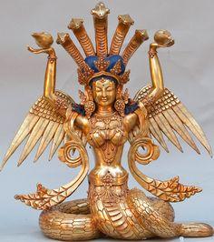"""arjuna-vallabha:  Naga Kanya (""""daughter of Naga"""")"""