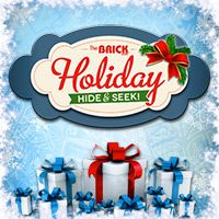 I played the Holiday Hide & Seek contest for a chance to win a $5,000 Brick Gift Card plus other great prizes!