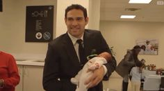 What in the World is Philadelphia Eagles QB Mark Sanchez Doing Holding a Baby?   FatManWriting