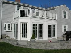 sunroom or a screened in porch with deck on top dream homes