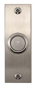 Stainless modern doorbell #WWH-163SS. Didn't check the width to see if it will fit.