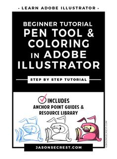 Check out this Adobe Illustrator Tutorial. In this easy to follow illustrator cartoon inking tutorial we will be going through our resource document to build our character and practice using the pen tool.