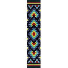 Native American Loom Beading Patterns Free Non Peyote Beading Patterns, Peyote Stitch Patterns, Seed Bead Patterns, Beaded Bracelet Patterns, Weaving Patterns, Loom Beading, Indian Beadwork, Native Beadwork, Native American Beadwork
