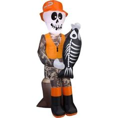 Gemmy Airblown Inflatable 3.5' X 4.5' Skeleton Dog and Cat ...