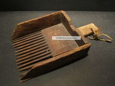 Antique 19th C Wooden Berry Cranberry Scoop American Country Primitive Aafa