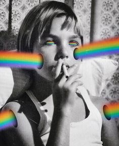 "6,801 Me gusta, 34 comentarios - Sara Shakeel (@sarashakeel) en Instagram: ""Lit kid . . CollageArt SaraShakeel . . #art #artist #collageart #artwork #patience #rainbow #bw…"""