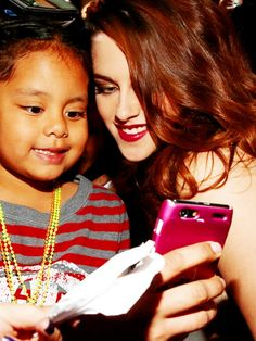 Kristen and little fan