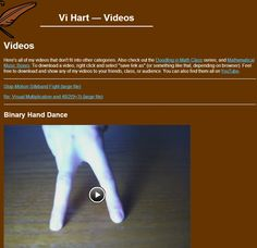 Collection of videos by Vi Hart :   http://vihart.com/videos/