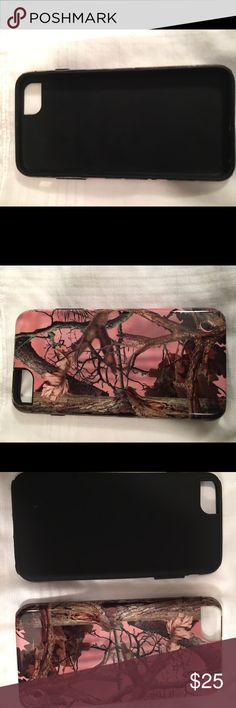 iPhone 6/6s Plus pink camo case This is a two piece iPhone 6/6s plus case. It is in amazing condition nothing at all wrong with it and was only on my phone for a week. It has a rubber case then a very hard case that goes over it. Iphone 6/6s plus Accessories Phone Cases