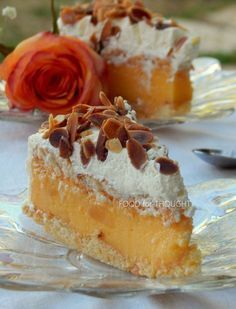 """Τούρτα μανταρίνι """"Food for thought"""" Greek Sweets, Greek Desserts, Greek Recipes, Sweets Cake, Cupcake Cakes, Cupcakes, Cookbook Recipes, Dessert Recipes, Low Calorie Cake"""