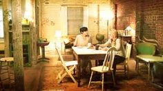 Once upon a time - Mary Margaret ( Snow White's apartment. This is not entirely my style but I admire the rustic walls shabby chic/bohemian-ness of this set.