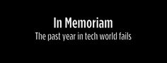 A year in tech fails
