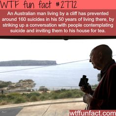 The man who prevented 150 suicide - WTF fun facts