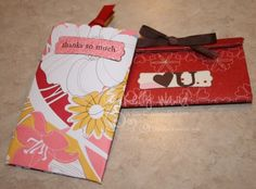 Neat idea to make gift card holders out of toilet paper rolls