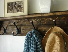 Rustic 5 Hanger Coat Rack Classic with Shelf - New Item!!