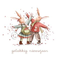 Nieuwjaarsbrief An Melis Christmas Time Is Here, Christmas Mood, Christmas Images, Baby Animal Drawings, Ikko, Winter Images, Nouvel An, Cute Illustration, Cute Pictures