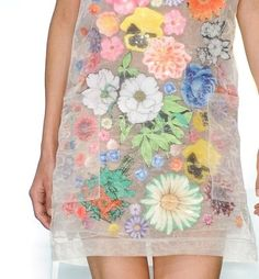 Floral Sticker Organza Dress, Christopher Kane, S/S12