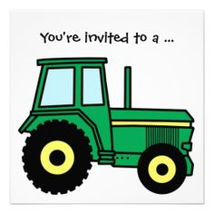Free Tractor Clip Art of Free tractor clip art farm equipment clipart image for your personal projects, presentations or web designs. Tractor Birthday, Boy Birthday, Cake Birthday, Tractor Clipart, John Deere Party, Green Monsters, Monster Trucks, Clip Art, Decoupage
