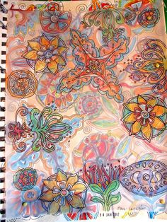 layered doodles.  Jane LaFazio.  Her work inspires me ongoing.  I am so grateful.