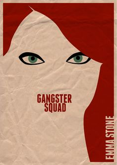 Gangster Squad - Minimalist movie poster with Grace Faraday #GangsterMovie #GangsterFlick