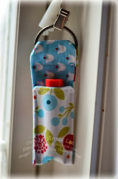 Love to Make Cards: Fabric Friday: Chapstick holder